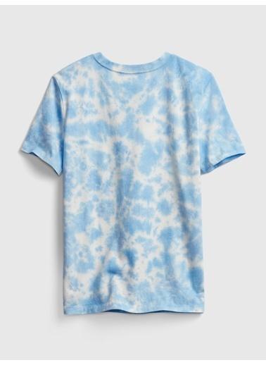 Gap Tie-Dye Kısa Kollu T-Shirt Mavi